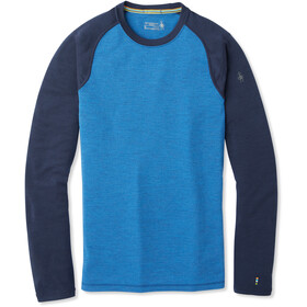 Smartwool Merino 250 Baselayer Crew Hombre, bright cobalt heather/deep navy